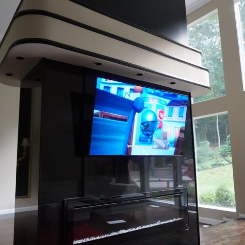 Flat TV Mounting on a Wall